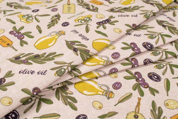 Olivenhain 100% baumwolle - gemustert