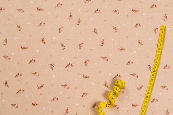 Englische Rosenknospen 100% baumwolle - gemustert