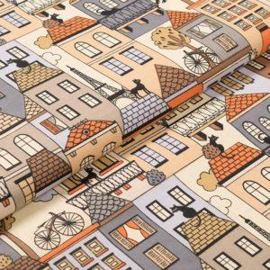 Katzen auf Dächer - BEIGE